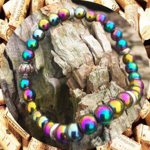 Rainbow Hematite Bracelet by Kimi Designs