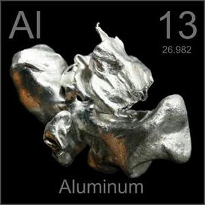 Aluminum Metals Pictorial Periodic Table on Kimi Designs