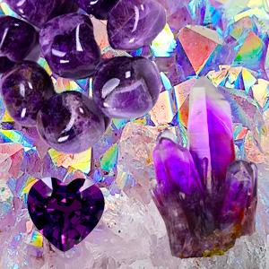 Amethyst used in Kimi Designs Jewellery - Wearable Art