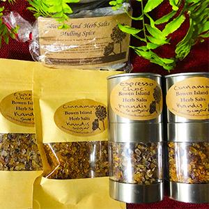 Bowen Island Herb Salts on Kimi Designs Buy Local