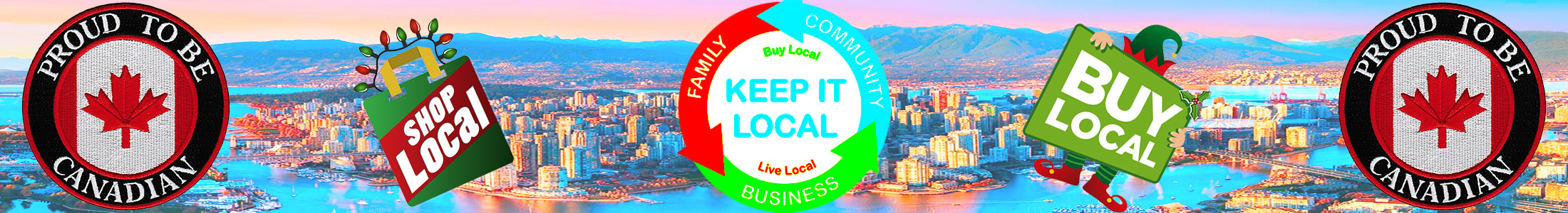 Buy Local - Proud to be Canadian - Shop Local with Kimi Designs