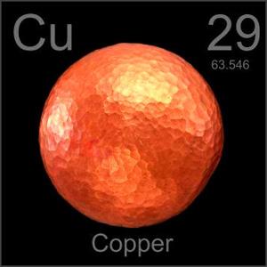 Copper Metals Pictorial Periodic Table on Kimi Designs