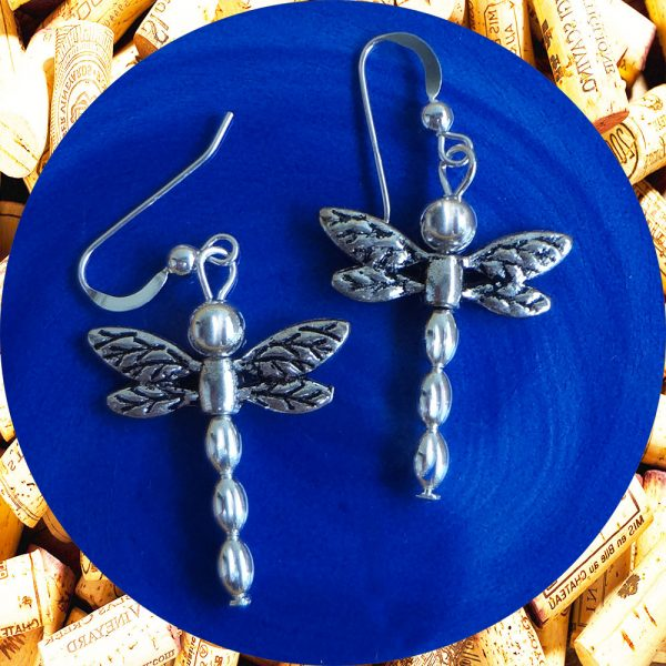 Silver Dragonfly Earrings by Kimi Designs