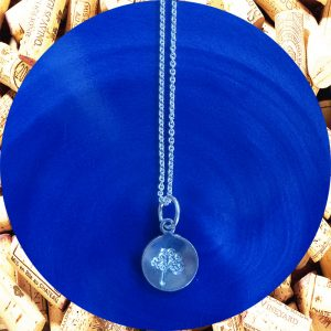 Small Round Tree of Life Print Aluminum Pendant Necklace by Kimi Designs